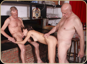 3 Old Perverts and One Beauty!