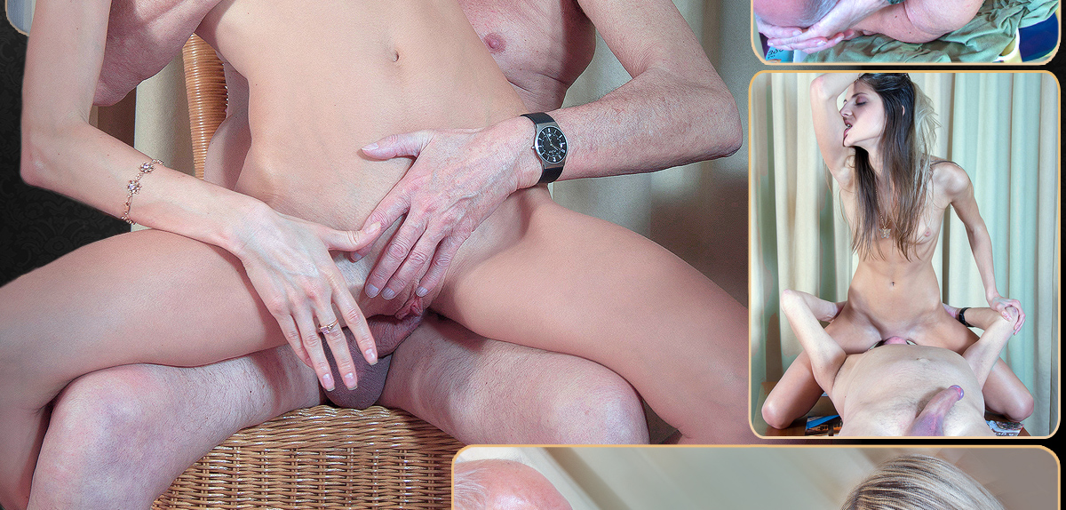 image Young gina pays the old debt collector with fuck