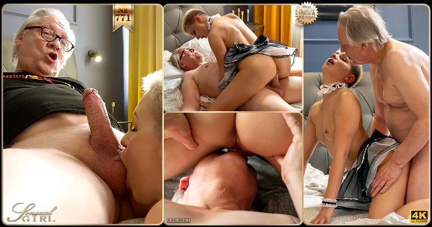 Naughty Cleaning Lady with Kittina Ivory